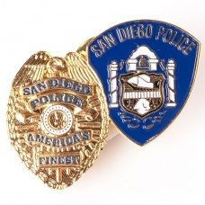 Double Badge Pin