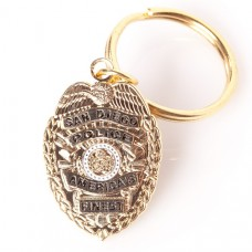 SDPD Badge Keychain
