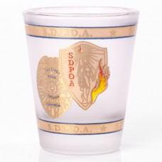 SDPOA 1.5 oz Frosted Shot Glass